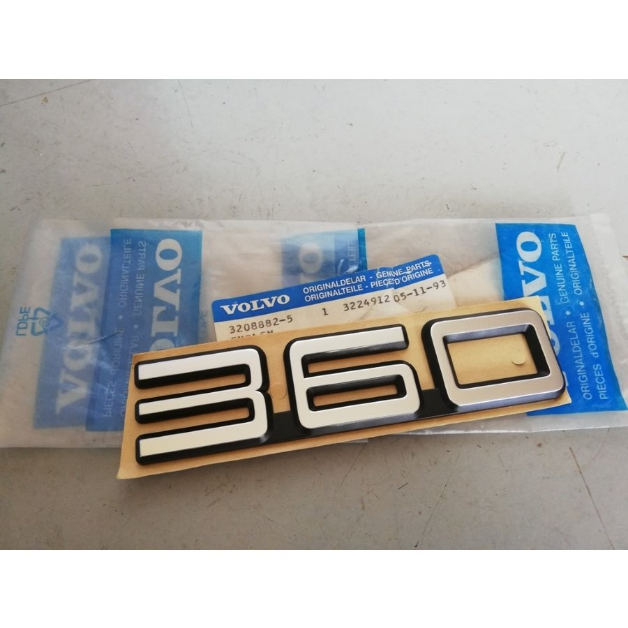 Emblem '360' 3208882 NOS from CH.121000 Volvo 360