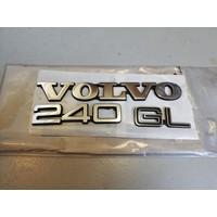 """Emblem """"Volvo 240 GL"""" NOS Volvo 240"""