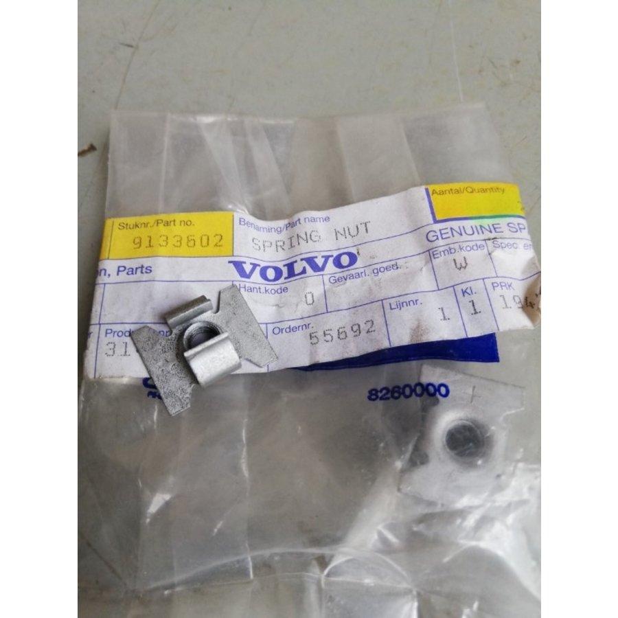 Cage nut M6 9133602 NOS Volvo C30, S60, S80, V60, V70, V70XC, XC40, XC60, XC90