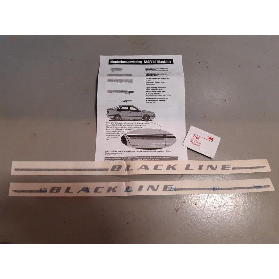 "Striping ""Blackline"" NOS Volvo S40, V40"