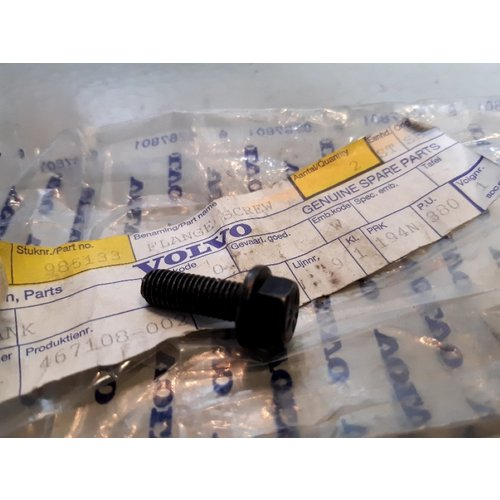 Zeskantflensschroef bout 985133 M7 NOS Volvo 850, 960, C30, C70, S40, S60, S70, S80, S90, V40, V50, V60, V70, XC60, XC70, XC90