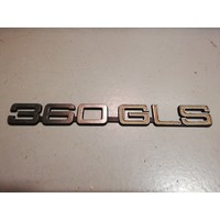 """Embleem achterzijde """"360GLS"""" 3202377-2 gebruikt 360"""