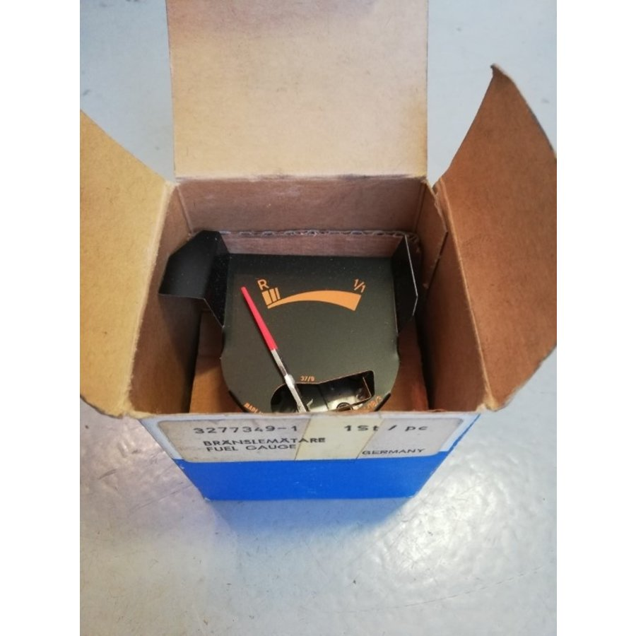 Brandstofmeter klokkenset instrumentenpaneel 3277349-1 NOS Volvo 66