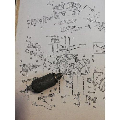 Stationairsproeier Solex carburateur B200 motor 1270141-3 gebruikt Volvo 360