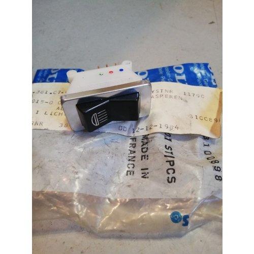 Schakelaar verlichting 3100898-0 NOS DAF, Volvo 66
