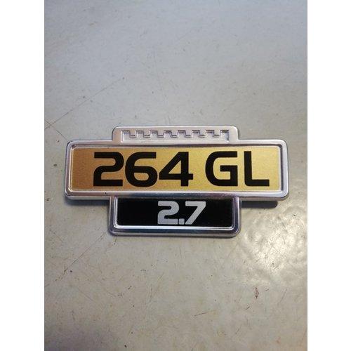 Embleem Volvo '264 GL' 1246006 NOS Volvo 264