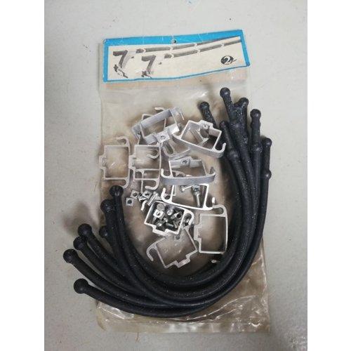 Clips met rubber banden lastdrager 283278 NOS Volvo 240, 260
