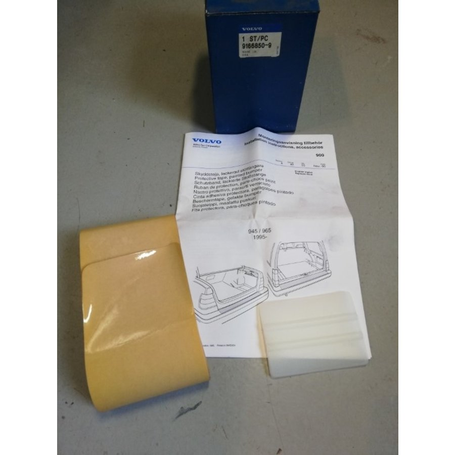 Bumper stone chip protection 9166850 NOS Volvo 940, 960 series