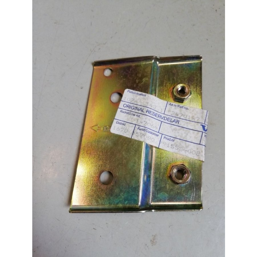 Adapterplaat 3470187 NOS Volvo 440, 460 serie