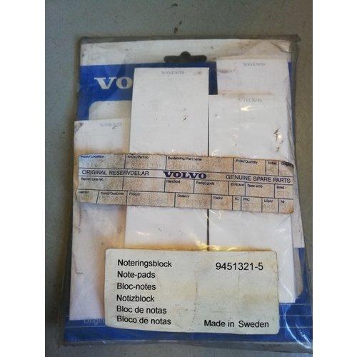 Supplement set note block Volvo 9451321 NOS Volvo Universal