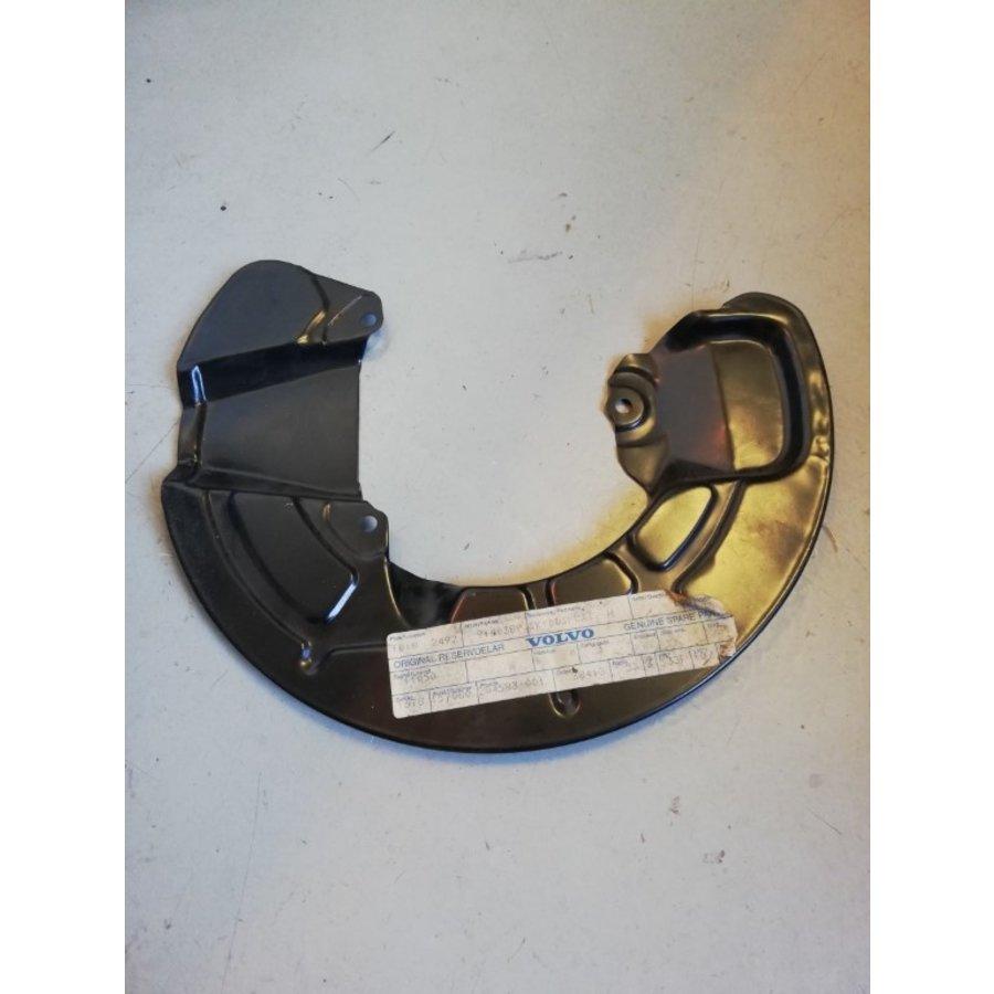 Afschermplaat remsysteem voorzijde RH 9140389 NOS Volvo 850, C70, S70, V70