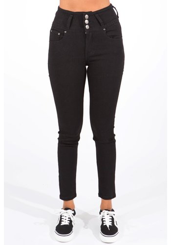 Miss Anna High Waist Jeans Zwart
