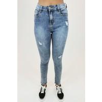 High Waist Jeans Blauw -
