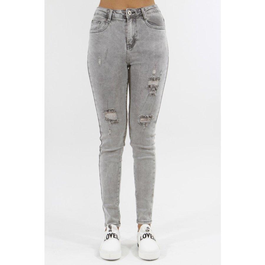 High Waist Jeans Grijs