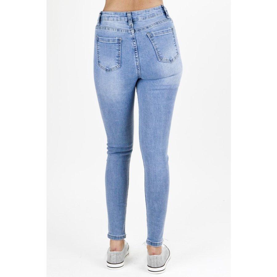 High Waist Jeans Blauw