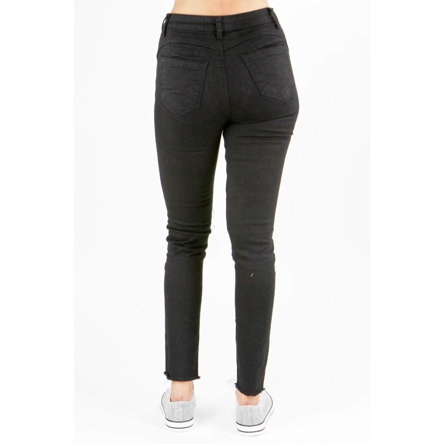 High Waist Jeans Zwart