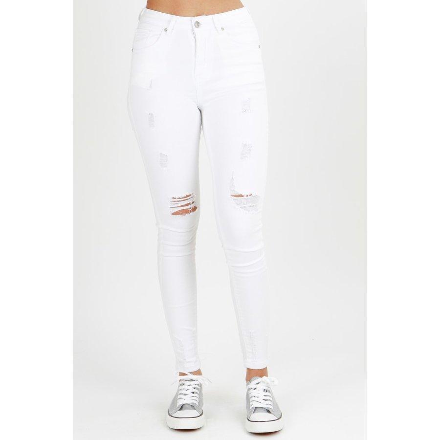 High Waist Jeans Wit