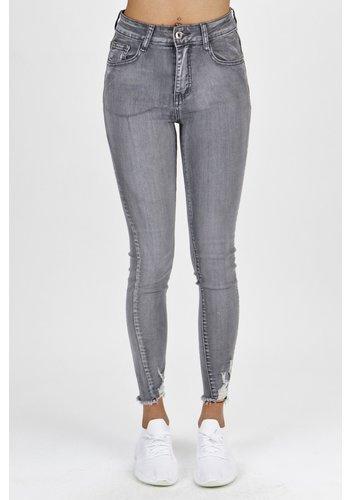 Mila Premium Jeans Grijs
