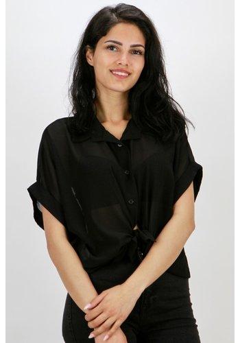 Transparante Blouse Zwart