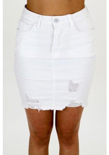 Spijkerrok Wit