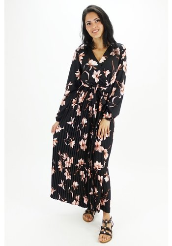 Lange Jurk Zwart Bloemen