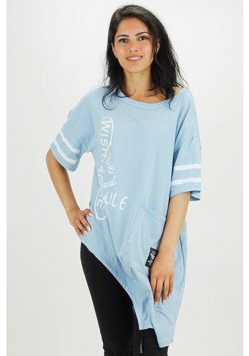 Shirt Oversized Lichtblauw