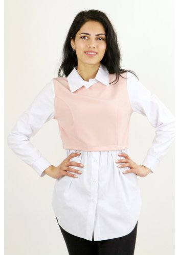 Blouse met Spencer Oudroze