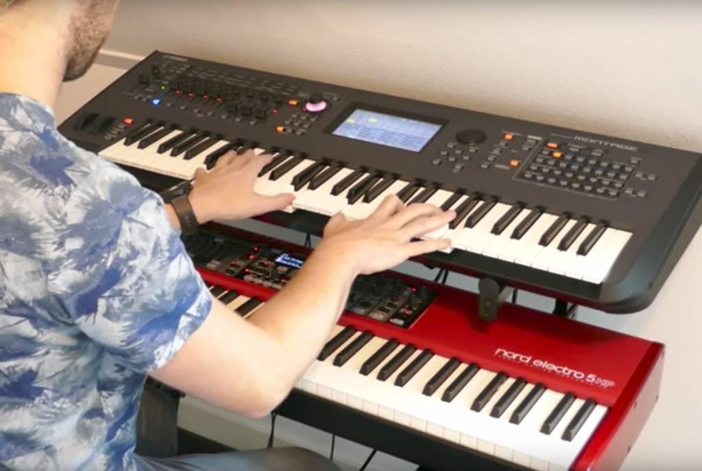 Clemens Wenners met zijn Yamaha Montage 6