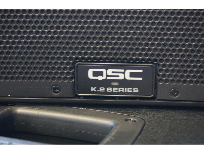 QSC set K12.2 met KS112 sub compleet met hoezen  (jong gebruikt)