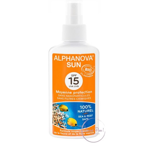 Alphanova Sun Organic Sunscreen Spray 125g - SPF 15