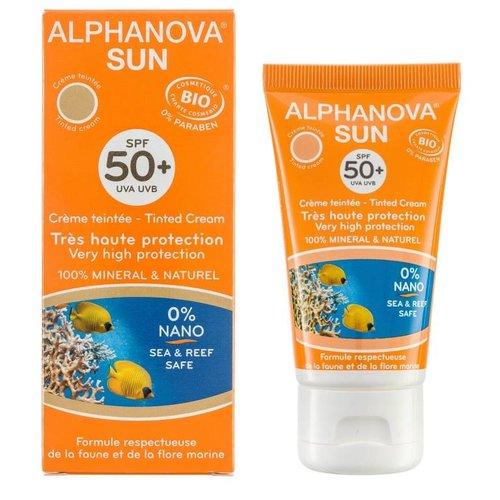 Alphanova Sun Bio Getinte Zonnebrandcreme Gezicht SPF 50