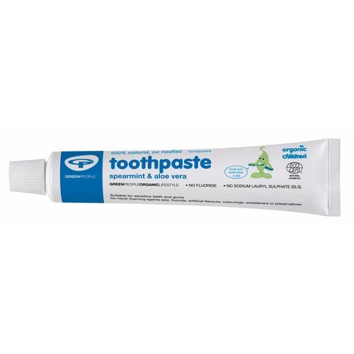 Green People Organic Children Toothpaste Spearmint & Aloe Vera