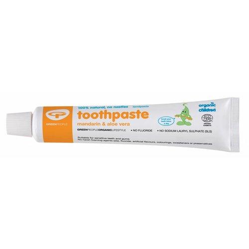 Green People Organic Children Tooth Paste - Mandarin & Aloe Vera Zonder Fluoride