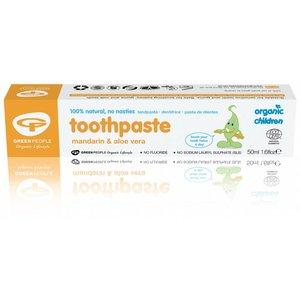 Green People Organic Children Toothpaste - Mandarin & Aloe Vera Without Fluoride