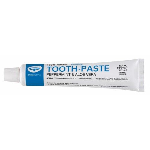 Green People Natuurlijke Tandpasta Mint Zonder Fluoride