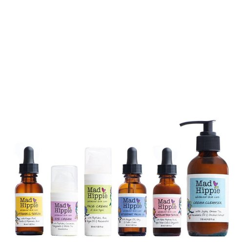 Mad Hippie Gezichtsverzorging Combi 6 Pack (Vitamine C Serum, Eye Cream, Face Cream, Facial Oil, Exfoliating Serum & Cream Cleanser)