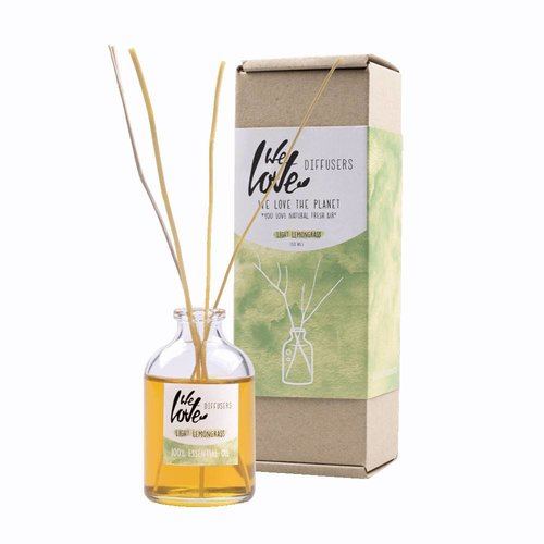 We Love The Planet Diffuser Geurstokjes Light Lemongrass (50ml)