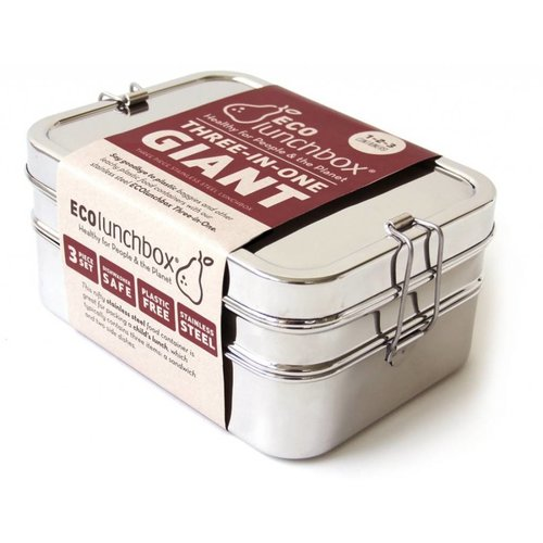 Eco Lunchbox Stainless Steel Lunchbox 3-in-1 Giant