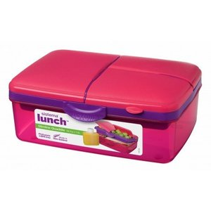 Sistema Lunchbox Slimline Quaddie- Pink / Colored