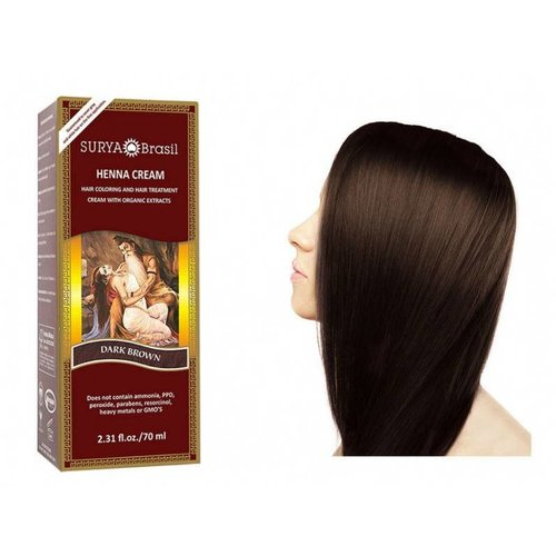Surya Brasil  Natuurlijke Haarverf Cream - Dark Brown