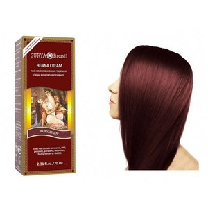 Surya Brasil  Natural Hair Dye Cream - Burgundy