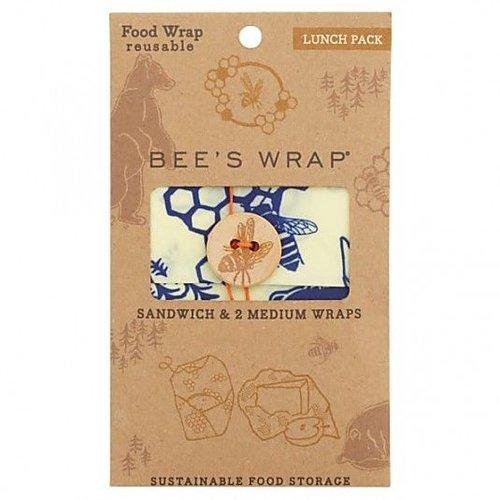 Bee's Wrap Bijenwas Doekjes Bears & Bees Lunchpack