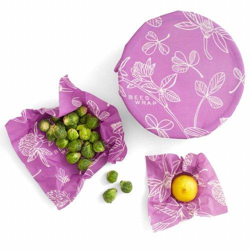 Bee's Wrap Bijenwas Doekjes (S/M/L)  - Miimi´s Purple (3 Stuks)