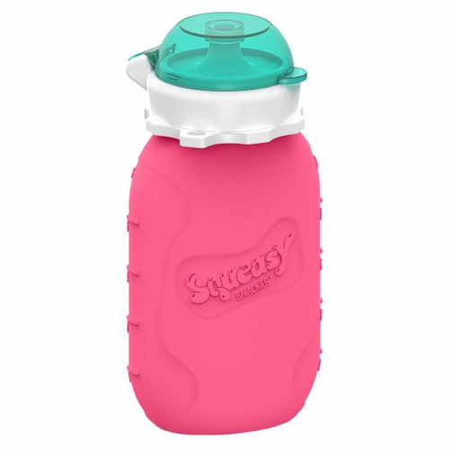 Squeasy Gear Silicone Squeeze Bottle 180ml - Pink