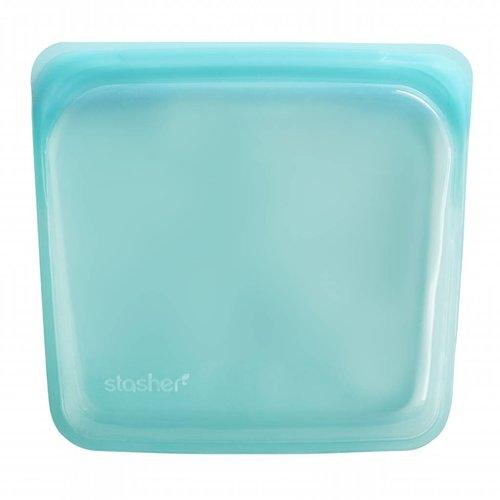 Stasher Herbruikbare zak  Medium - Aqua