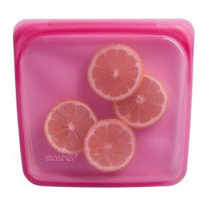 Stasher Reusable bag Medium - Raspberry