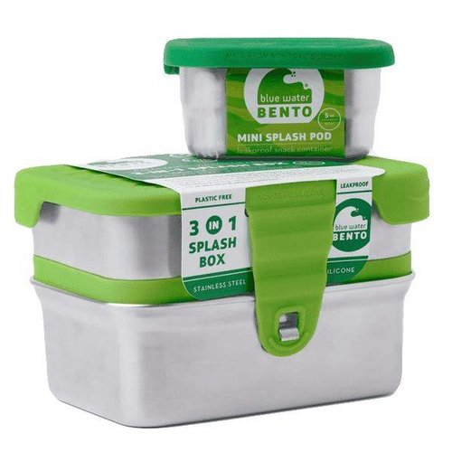 Blue Water Bento RVS Lunchbox Eco Splash box 3 in 1 Lekvrij
