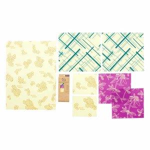 Bee's Wrap Bijenwas Doekjes - Variety Pack (7 Stuks)