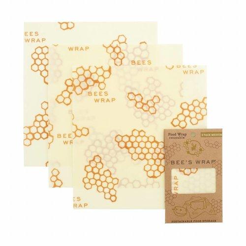 Bee's Wrap Bijenwas Doekjes 3 Pack - Medium