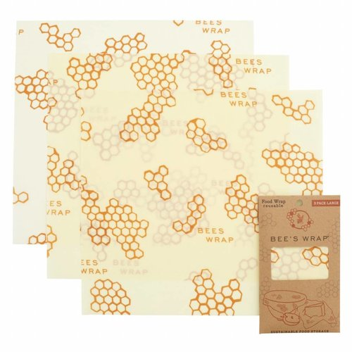 Bee's Wrap Bijenwas Doekjes 3 Pack - Large